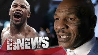 Mike Tyson Swings At Floyd Mayweather & Floyd Doesn