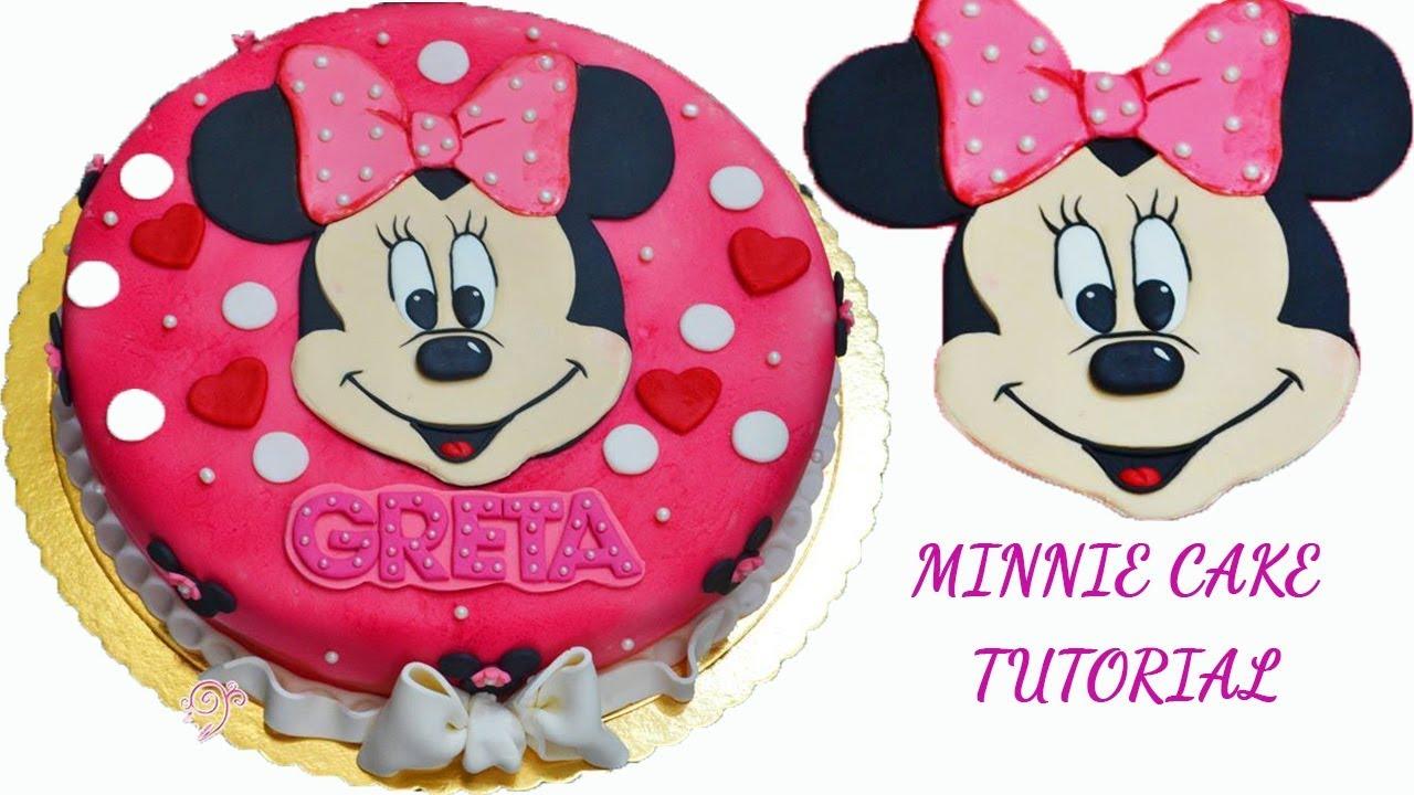 Easy 2d Minnie Cake Tutorial Fondant Sugarpaste Torta Topolina