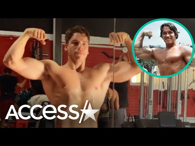 Arnold Schwarzenegger\'s Son Channels Dad With Bulging Biceps