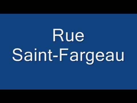 Rue Saint Fargeau Paris Arrondissement  20e