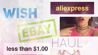 HAUL: CHEAPEST Haul EVER! Ebay, Wish, & AliExpress Pt. 2 | Online Shopping