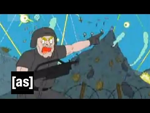 437 Counts of Time Crime | Superjail! | Adult Swim: The Time Court shows the Warden a vision of the havoc Superjail could cause on a global scale.  SUBSCRIBE: http://bit.ly/AdultSwimSubscribe  About Superjail!: Superjail! is Adult Swim's look at the harsh reality of prison life. Superjail is home to the worst criminals humanity has to offer, but their violence pales in comparison to the bubbly sadism of The Warden, who delights in inventing whimsical death machines to control his inmates. Together with his staff, which includes a mass murdering robot, an imposing prison guard, and a guy that's good with numbers, The Warden strives to find stylish new ways to keep Superjail's inmates in check. See more Superjail! now on AdultSwim.com.  Watch Superjail!: http://bit.ly/SuperJail  About Adult Swim: Adult Swim is your late-night home for animation and live-action comedy. Enjoy some of your favorite shows, including Robot Chicken, Venture Bros., Tim and Eric, Aqua Teen, Childrens Hospital, Delocated, Metalocalypse, Squidbillies, and more. Watch some playlists. Fast forward, rewind, pause. It's all here. And remember to visit AdultSwim.com for all your full episode needs. We know you wouldn't forget, but it never hurts to make sure.  Connect with Adult Swim Online: Visit Adult Swim WEBSITE: http://bit.ly/ASWebsite Like Adult Swim on FACEBOOK: http://bit.ly/ASFacebook  Follow Adult Swim on TWITTER: http://bit.ly/ASTweet  437 Counts of Time Crime | Superjail! | Adult Swim http://www.youtube.com/user/adultswim