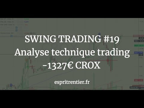SWING TRADING #19 Analyse technique trading -1327€ CROX 1