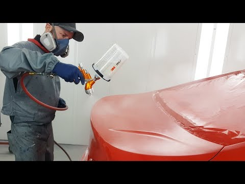 Spraying Waterborne Paint / Tekna Clearcoat Gun