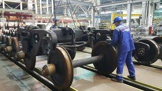 Как производят грузовые вагоны.  Сделано в России РБК.