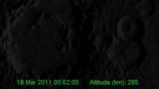 MESSENGER Mercury Orbital Insertion (spacecraft view)