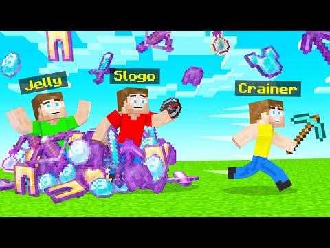 RAINING OP ITEMS In HUNTERS Vs SPEEDRUNNER! (Minecraft)