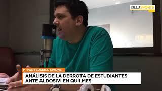 ANÁLISIS DE ESTUDIANTES 0 VS ALDOSIVI 2 CON FEDERICO SIMONE