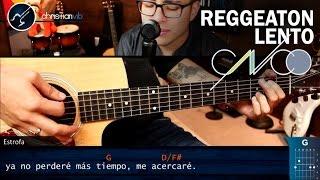 Como tocar Reggaeton Lento CNCO en Guitarra COMPLETO   SUPER FACIL