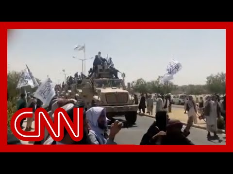 Video shows Taliban 'victory' parades with military vehicles captured from Afghan army