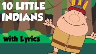 Ten Little Indians | Nursery Rhymes Lyrics ~ Tea Time with Tayla!