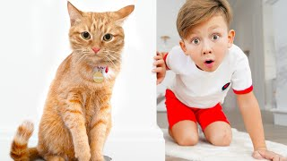 Сеня и детская история про Котенка Привидение