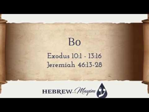 15 Bo, Aliyah 1 - Learn Biblical Hebrew