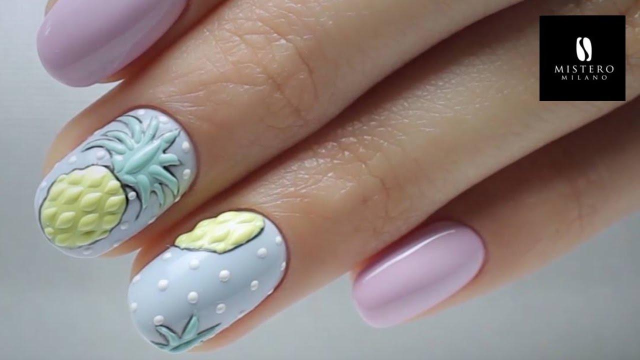 Zdobienia 3d Ananas Na Paznokciach Sweet Pineapple Nails