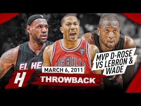 The Game That MVP Derrick Rose COMPLETELY DESTROYED LeBron James & Dwyane Wade 2011.03.06 - EPIC!