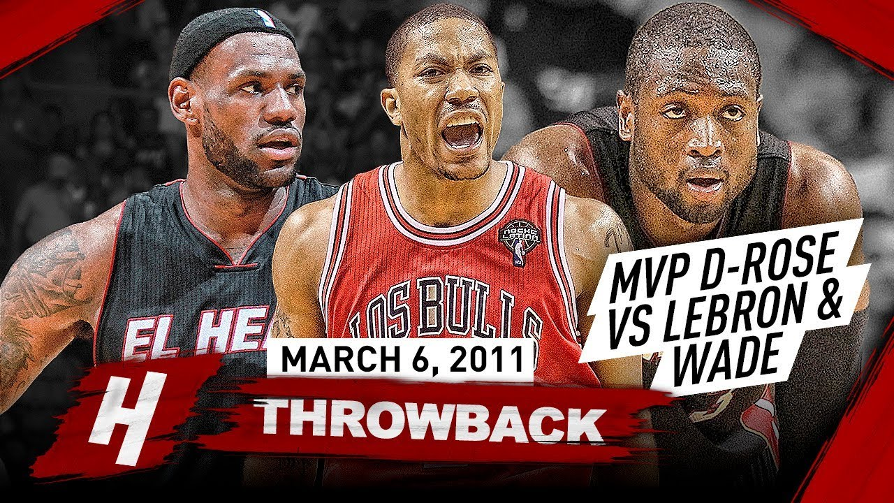 fabb1b722ff The Game that MVP Derrick Rose COMPLETELY DESTROYED LeBron James   Dwyane  Wade 2011.03.06 - EPIC!