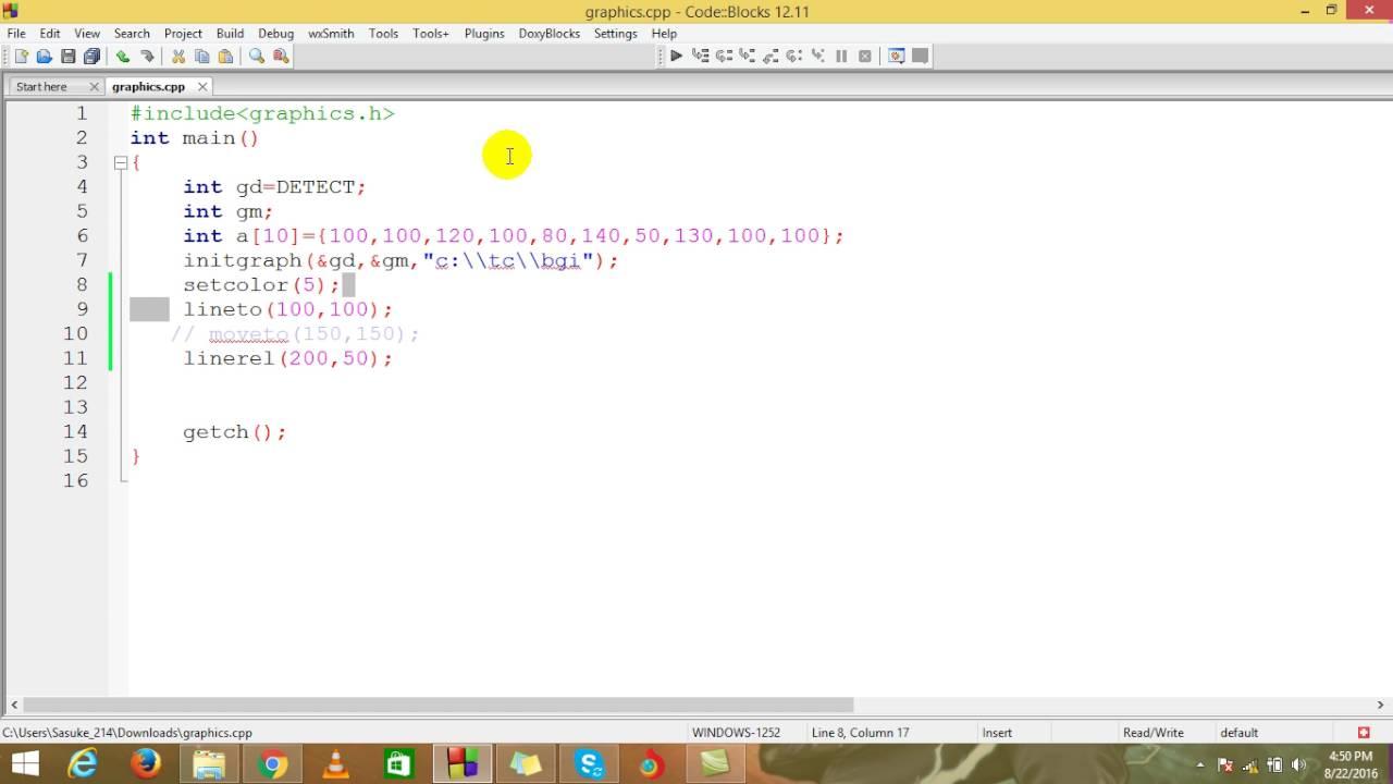 graphics programs 10: moveto(),lineto(),linerel()