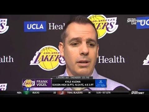 Kyle Kuzma, Lakers Dominate Thunder 125-110 as LeBron James ...