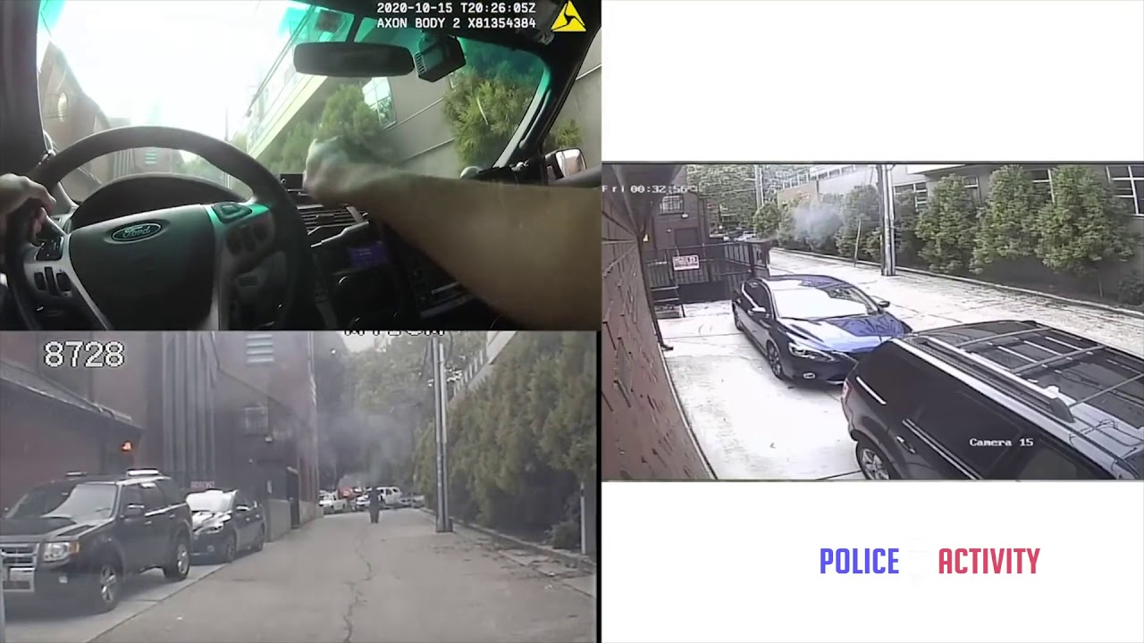 Seattle Police Officer Gets Torched