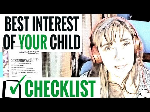 The Best Interest Of YOUR Child Checklist | FREE DOWNLOAD