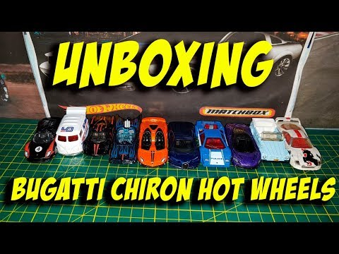 Unboxing El nuevo Bugatti Chiron Hot Wheels