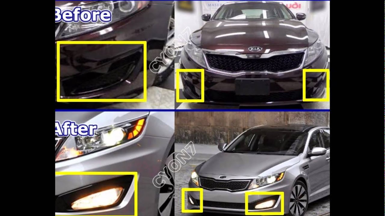 2011 2012 kia optima fog light lamp complete kit wiring harness kit mf switch [ 1280 x 720 Pixel ]