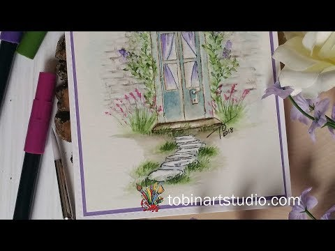 Watercolor Spring Door | Art Impressions Stamps
