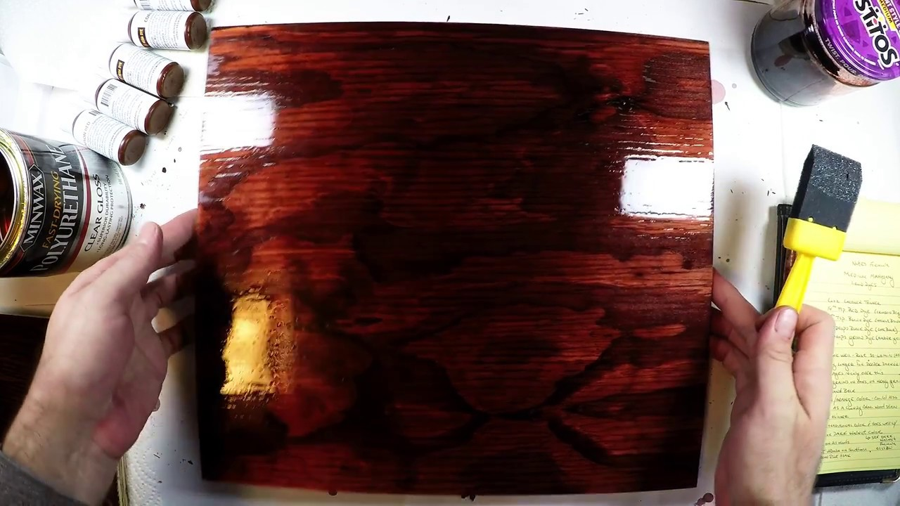 mahogany stain color using wood dyes youtube. Black Bedroom Furniture Sets. Home Design Ideas