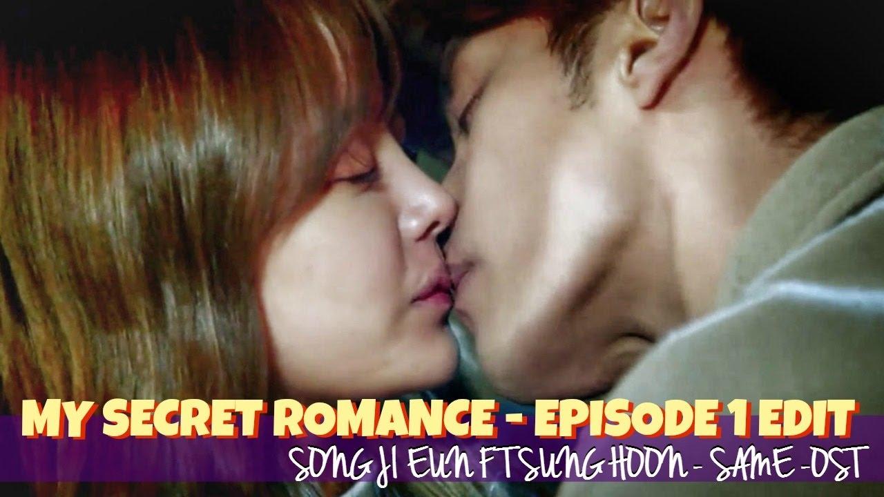 EPISODE 1 MY SECRET ROMANCE - KISS SCENE - SONG JI EUN FT SUNG HOON