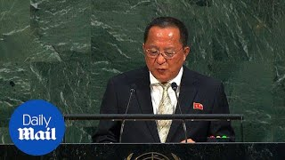 Video North Korea foreign minister says rockets to US is 'inevitable' - Daily Mail download MP3, 3GP, MP4, WEBM, AVI, FLV Maret 2018