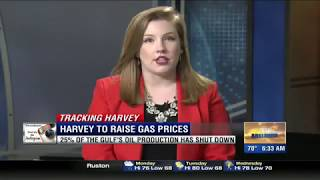 Harvey causes gas prices to rise