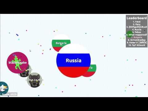NEW TYPE BAIT!!! BULGARIA & RUSSIA POWER! Uncut Gameplay. Agar.io #15