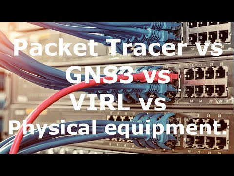 Packet Tracer vs GNS3 vs VIRL vs Physical Equipment (Part 1). Which is best?