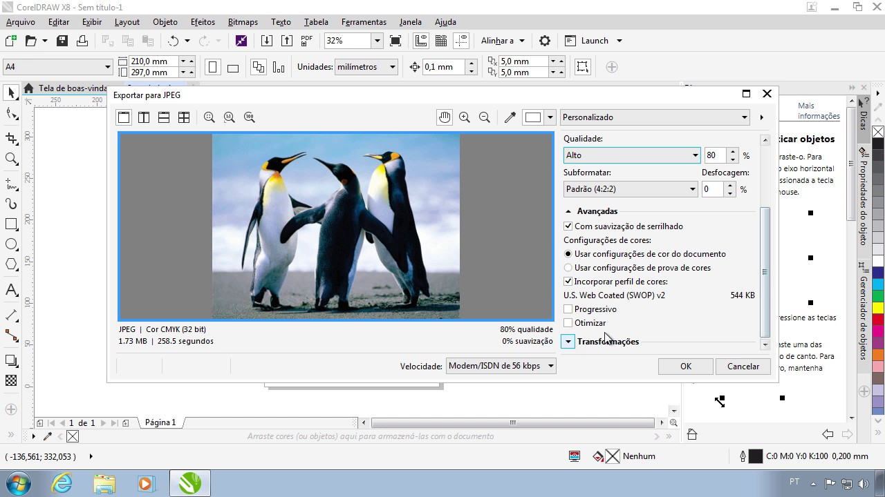 CorelDRAW X8: Como salvar em imagem JPG ou PDF - YouTube