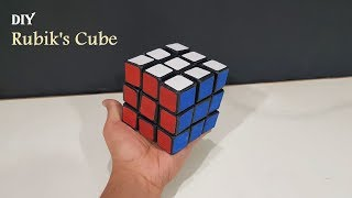 How to Make A Rubik's cube from cardboard with Templates