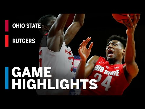 Highlights: Ohio State at Rutgers | Big Ten Basketball