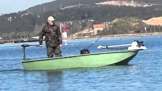 Moteur hors-bord électrique Haswing Osapian 55 Lbs sur barque
