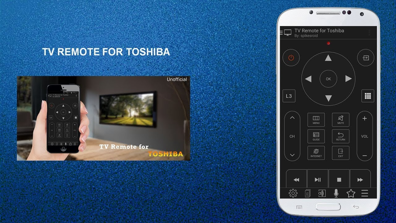 TV REMOTE FOR TOSHIBA