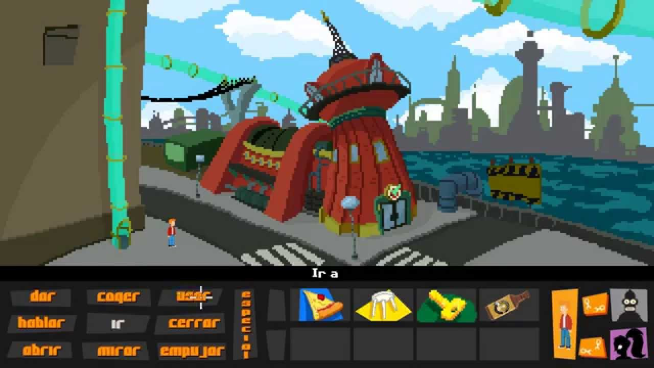 Futurama adventure game city map test character test give test