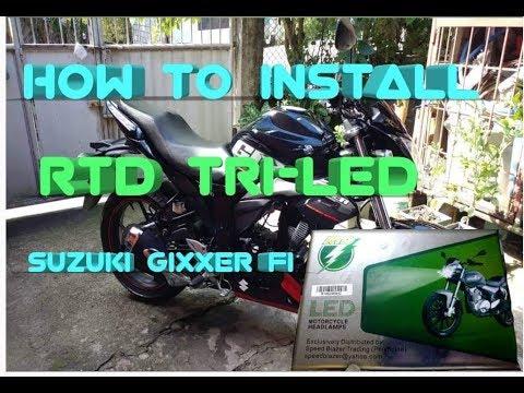 How to install LED Headlight on Suzuki Gixxer 2018 f.i model