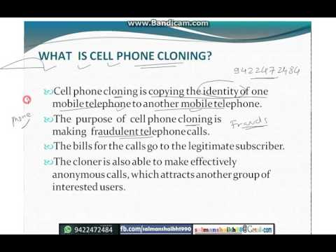 WAHT IS CELL PHONE CLONING ?