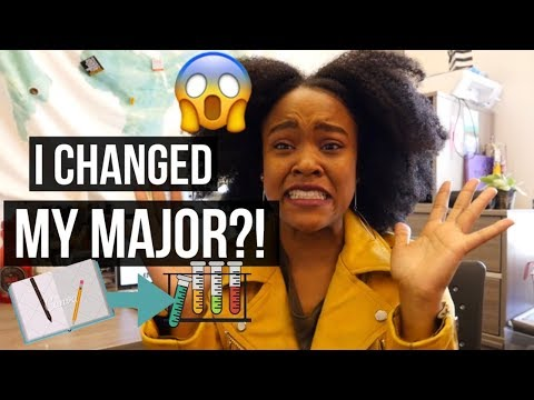 I CHANGED MY MAJOR?!