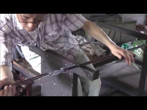 ガラス工房悠悠 一人で作る吹きガラス香水瓶のセン