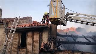 Incendie à Parthenay (Deux-Sèvres) : les pompiers mobilisés