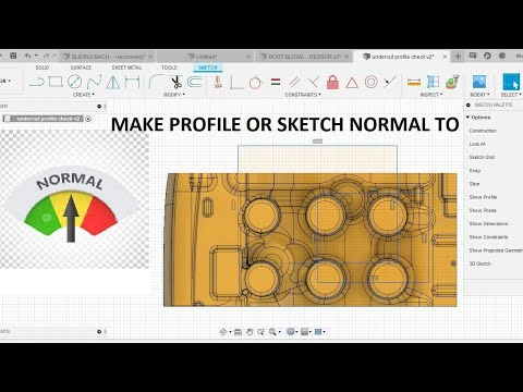 How to Make sketch Or  any face NORMAL TO - FUSION 360 Tutorial thumbnail