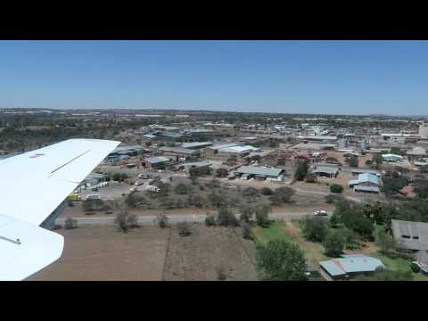 Small plane landing at Polokwane, South Africa, 2015-10-05