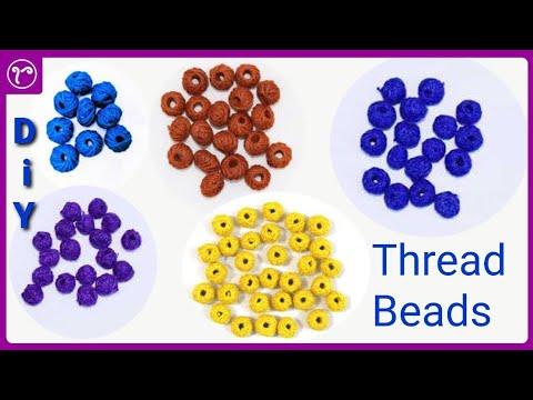 DIY Thread Beads for Handmade Jewellery | Jewellery Making