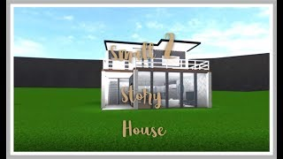 Roblox Bloxburg Small 2 Story House - Small Modern House - Read the description