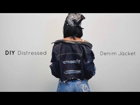 DIY Distressed Denim Jacket   Jeanae Melisa