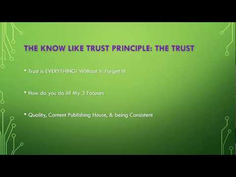 The Know, Like, Trust Principle: people buy from those they know like and trust